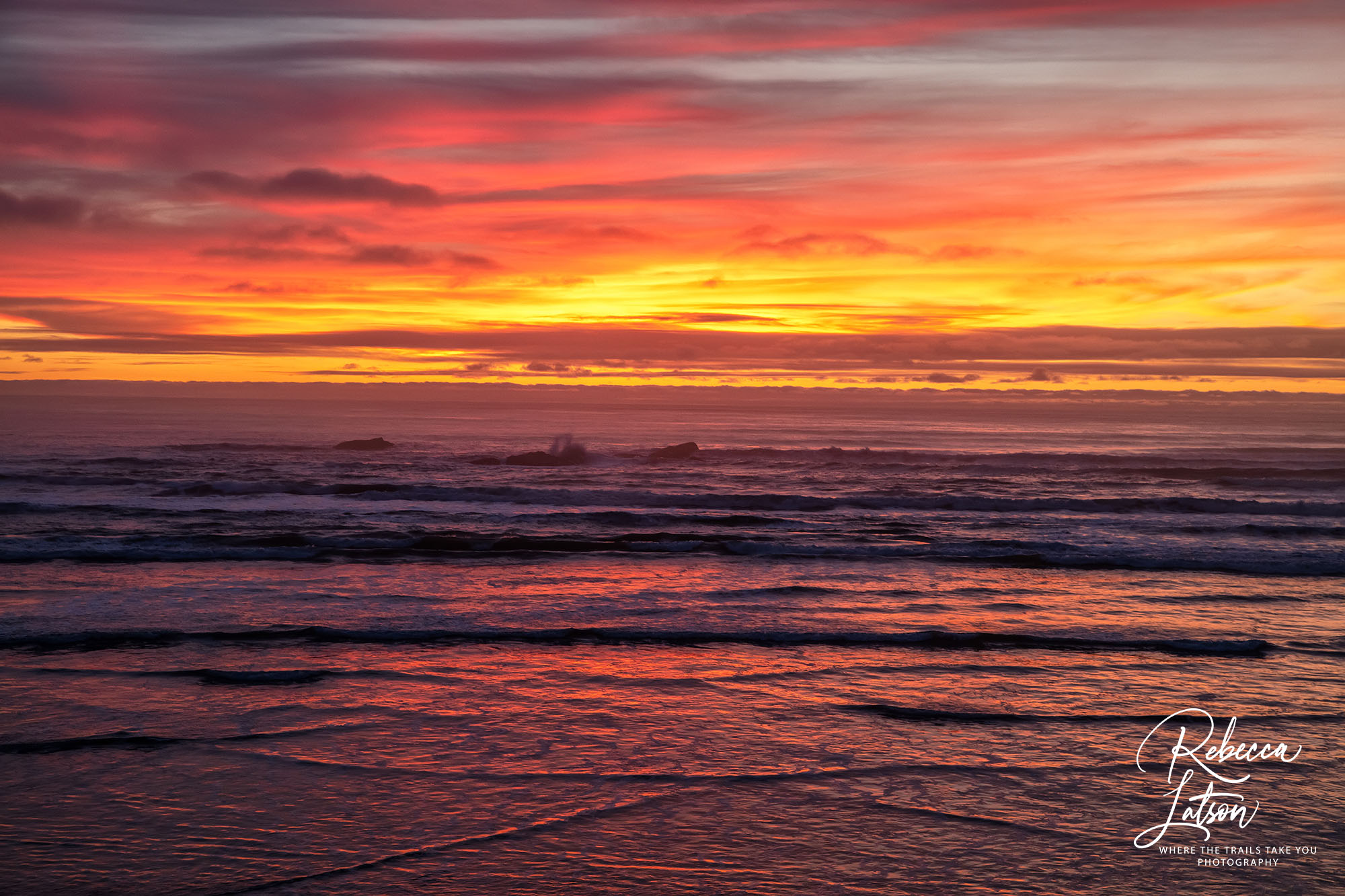 A Winter Sunset Over Kalaloch Beach