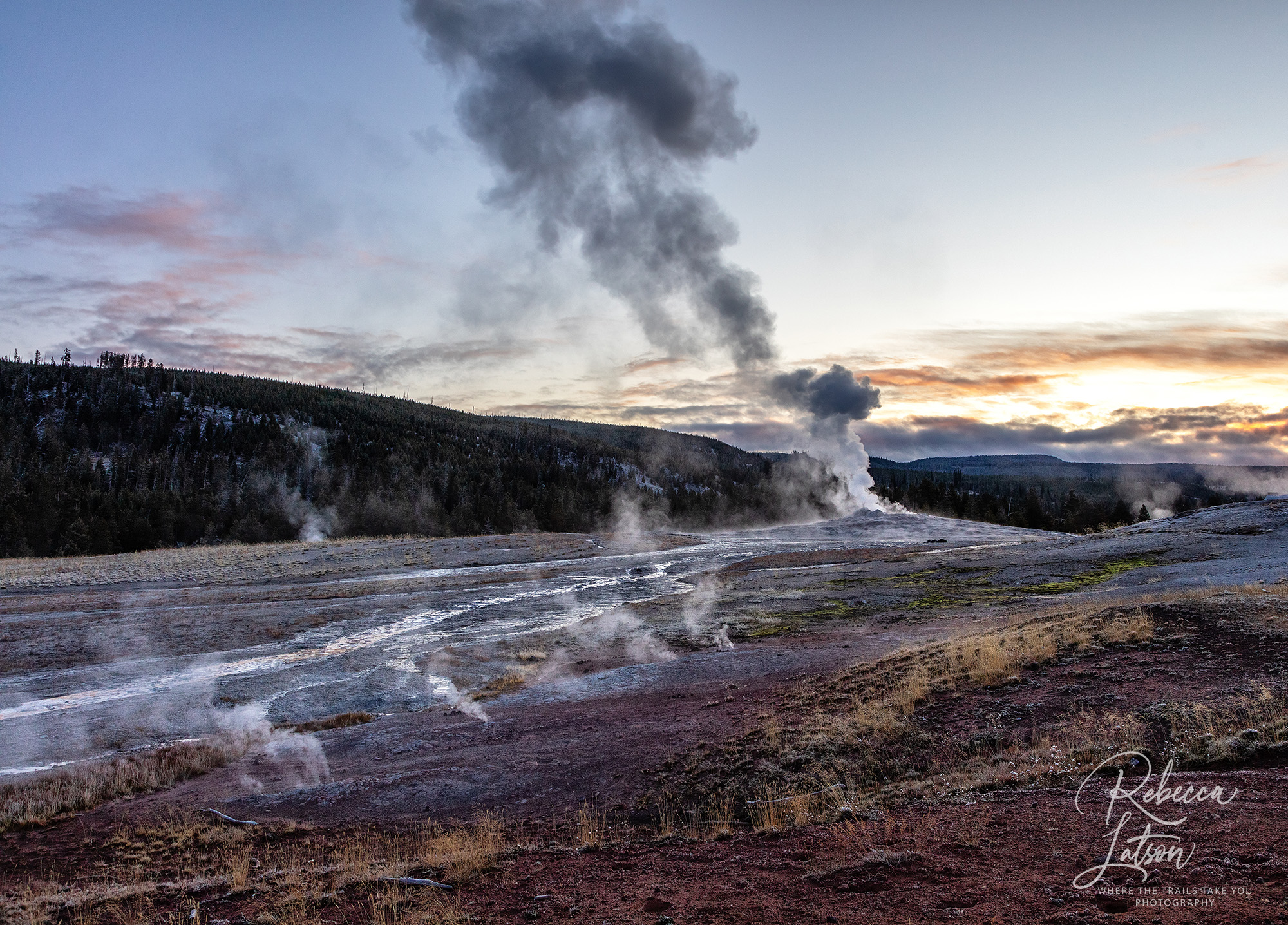 Sunrise Over Old Faithful