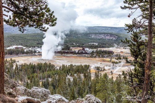 Watching Old Faithful From Observation Point 2