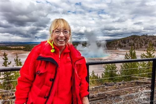 Becky At Grand Prismatic Overlook